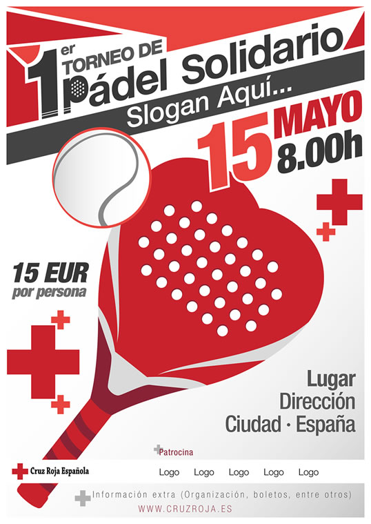 PadelSolidario01 Cartel Cruz Roja